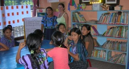 The Open Door Children's Library in Quatemala which received a donation of children's books from Willamette Writers.