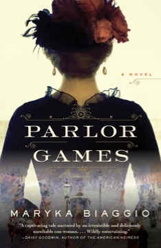 Photo of Maryka Biaggio's novel, Parlor Games